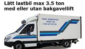 Lätt lastbil max 3,5 ton med eller utan bakgavel